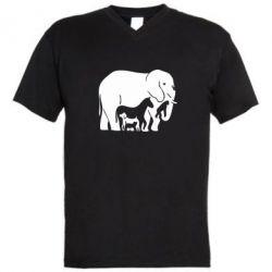 Чоловічі футболки з V-подібним вирізом все в одному - FatLine