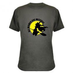 Камуфляжная футболка Все женщины - ведьмы - FatLine