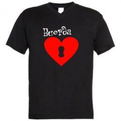 Мужская футболка  с V-образным вырезом Всегда вместе 2
