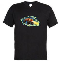 Мужская футболка  с V-образным вырезом Вспыш 2