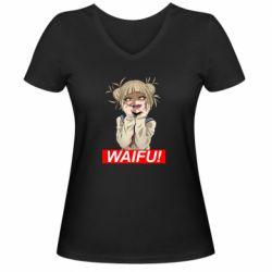 Жіноча футболка з V-подібним вирізом Waifu Himiko Toga