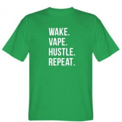 Мужская футболка Wake.Vape.Hustle.Repeat. - FatLine