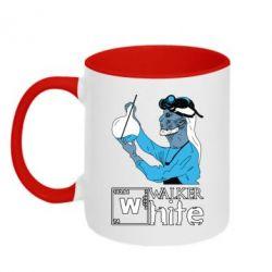 Кружка двухцветная Walker White