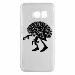 Чехол для Samsung S6 EDGE Walking Brains