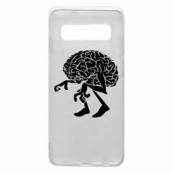 Чехол для Samsung S10 Walking Brains