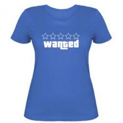 Женская футболка Wanted - FatLine
