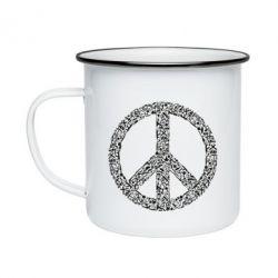Кружка емальована War Peace