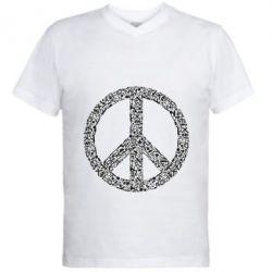 Чоловіча футболка з V-подібним вирізом War Peace