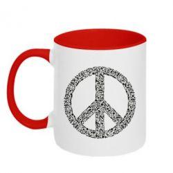 Кружка двоколірна 320ml War Peace