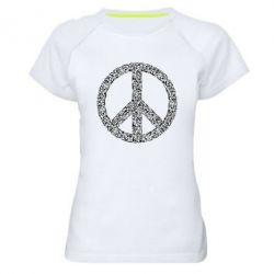 Жіноча спортивна футболка War Peace