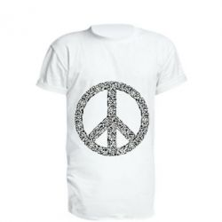 Подовжена футболка War Peace