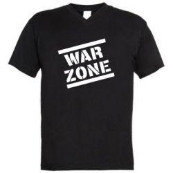 Чоловіча футболка з V-подібним вирізом War Zone