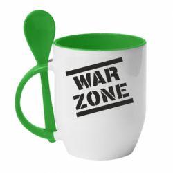 Кружка з керамічною ложкою War Zone