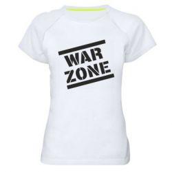 Жіноча спортивна футболка War Zone