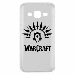 Чехол для Samsung J2 2015 WarCraft Logo