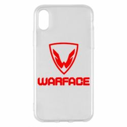Чехол для iPhone X Warface Logo - FatLine
