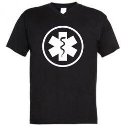 Чоловіча футболка з V-подібним вирізом Warface: medic