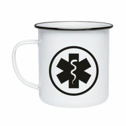 Кружка емальована Warface: medic