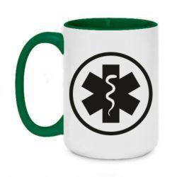 Кружка двоколірна 420ml Warface: medic