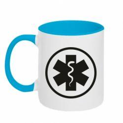 Кружка двоколірна 320ml Warface: medic