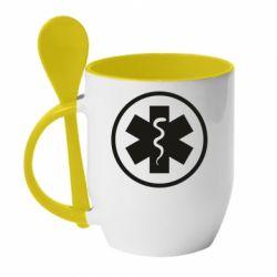 Кружка з керамічною ложкою Warface: medic