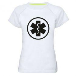 Жіноча спортивна футболка Warface: medic