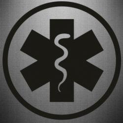 Наклейка Warface: medic