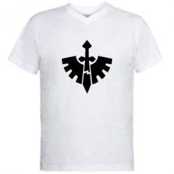 Мужская футболка  с V-образным вырезом Warhammer 40k Dark Angels - FatLine