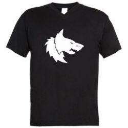 Мужская футболка  с V-образным вырезом Warhammer Space Wolf - FatLine
