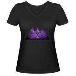Жіноча футболка з V-подібним вирізом Warlock Destiny