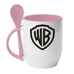 Кружка з керамічною ложкою Warner brothers