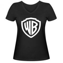 Жіноча футболка з V-подібним вирізом Warner brothers