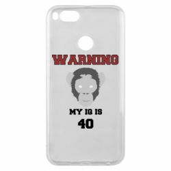 Чехол для Xiaomi Mi A1 Warning my iq is 40