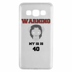 Чехол для Samsung A3 2015 Warning my iq is 40