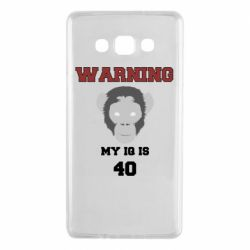Чехол для Samsung A7 2015 Warning my iq is 40