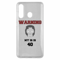 Чехол для Samsung M40 Warning my iq is 40
