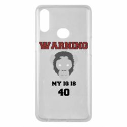 Чехол для Samsung A10s Warning my iq is 40
