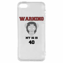 Чехол для iPhone5/5S/SE Warning my iq is 40