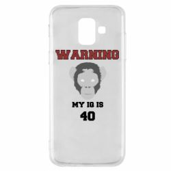 Чехол для Samsung A6 2018 Warning my iq is 40