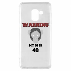 Чехол для Samsung A8 2018 Warning my iq is 40