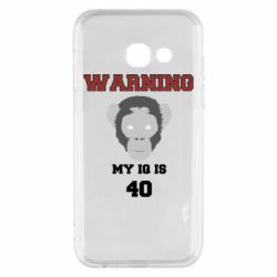 Чехол для Samsung A3 2017 Warning my iq is 40