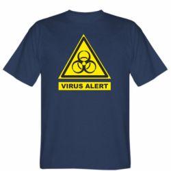 Чоловіча футболка Warning Virus alers