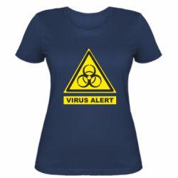 Жіноча футболка Warning Virus alers