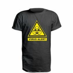 Подовжена футболка Warning Virus alers