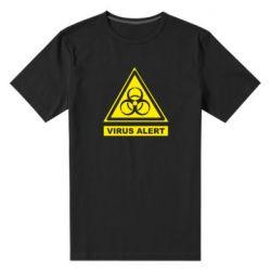 Чоловіча стрейчева футболка Warning Virus alers