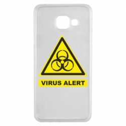 Чехол для Samsung A3 2016 Warning Virus alers