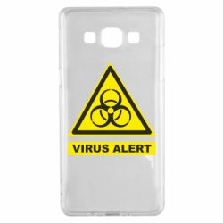 Чехол для Samsung A5 2015 Warning Virus alers