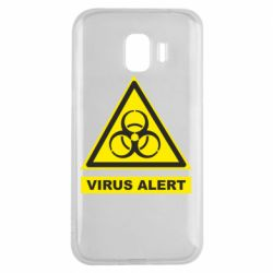 Чехол для Samsung J2 2018 Warning Virus alers