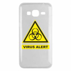 Чехол для Samsung J3 2016 Warning Virus alers
