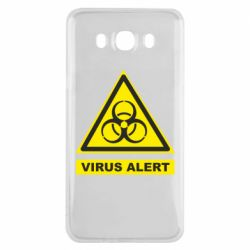 Чехол для Samsung J7 2016 Warning Virus alers